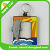cute customized photo framesoft pvc rubber keychain