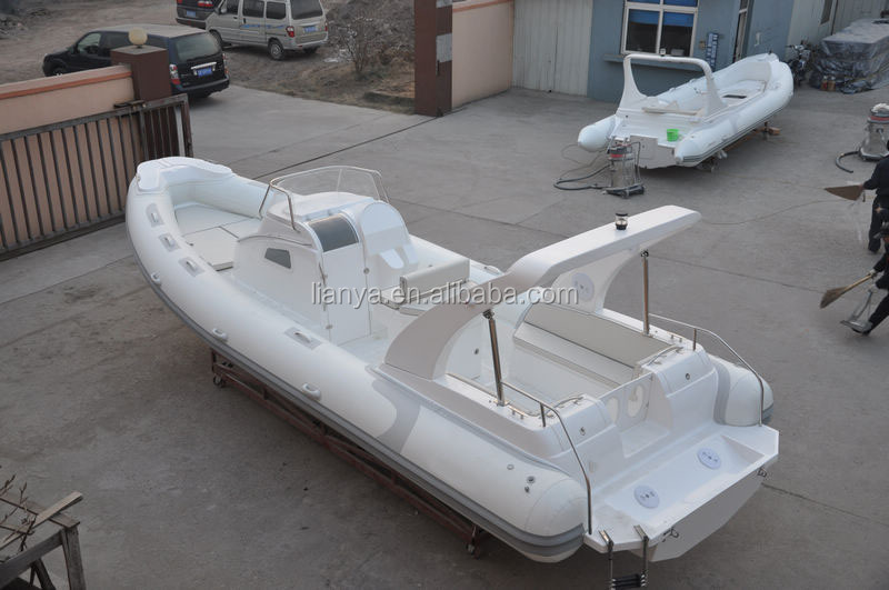 Large rib boat 27ft rigid hull inflatable for sale cabin sailing yacht