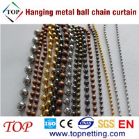 Shimmer hanging metal ball chain curtain for home deco