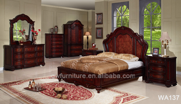 Wholesale comfortable royal ideal home bedroom furniture WA134