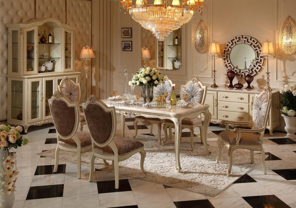 Luxurious Louis XV Emperador Gold Bedroom Set, Italian Walnut Solid Wood And Gold Leaf Finishing