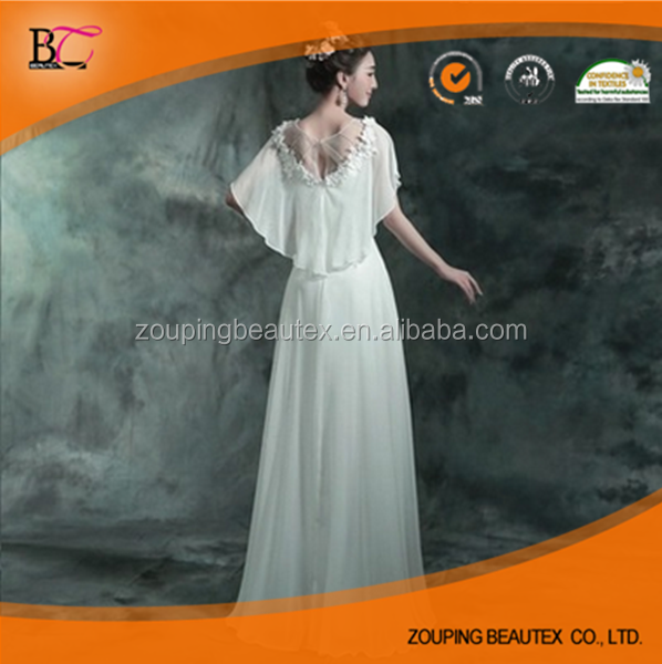 White wedding dresses long banquet performance
