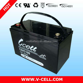 Deep Cycle agm sealed lead acid regulated Battery for Solar System (12v,100ah)