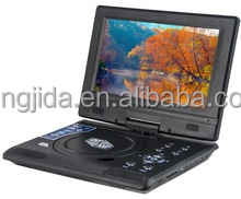 2016 best sale portable DVD players with analog TV and FM USB function