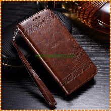 Hot selling Embossing mobile phone leather case for Samsung s7