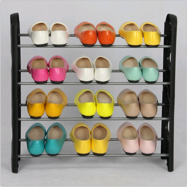 simple design fabric compact shoe rack for home