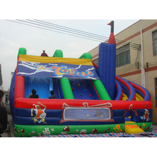 Sunway 2016 Amusement Colorful High Quality Giant Inflatable Spiral Water slide