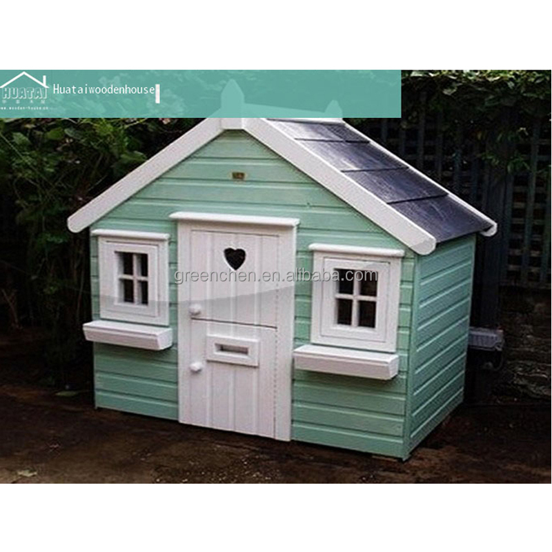 Outdoor wooden prefab kids play house