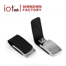 New Promotion Cheap Price 16Gb Black Leather Usb Flash Drive Wholesale Manufacturer From China