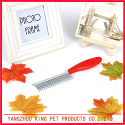 China supplier promotional plastic pet grooming comb for dog and cat