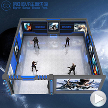 Professional stand virtual reality ride 5D 9D vr products interactive vr simulator experience