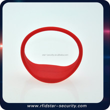 Silicone Waterproof 13.56mhz nfc silicone bracelets with low price