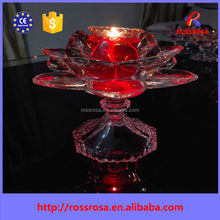 2016 Hot Selling fashion opening flower art candle, jelly candle, tealight candle for birthday