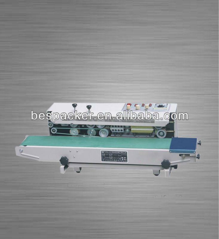 Continuous steel wheel code sealing machine for bag/film package