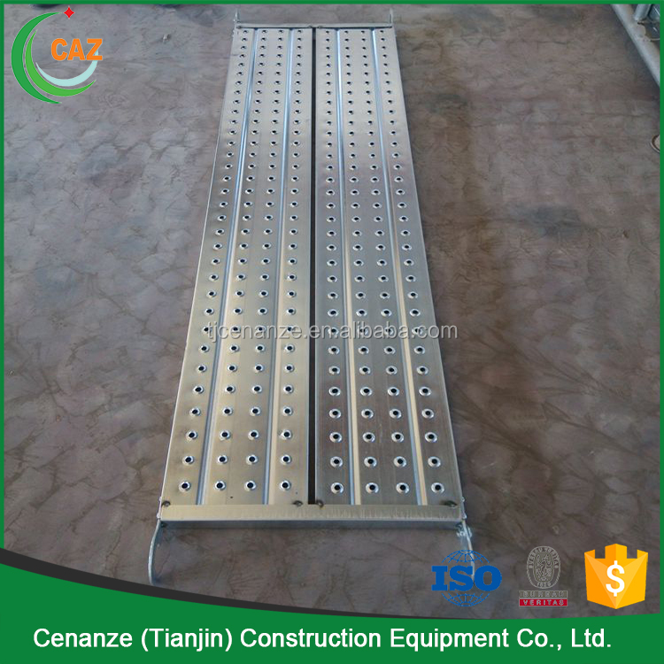 dilated steel board perforated metal scaffold plank hooks