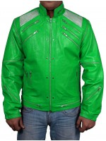 Michael Jackson PARROT GREEN Beat It Faux Leather Jacket Movie Jackets