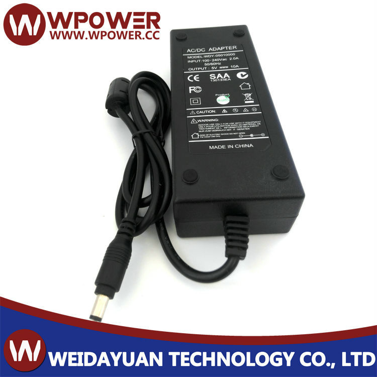 5v 10a switch power supply 50W with UL CUL GS KC CE CB PSE SAA ROHS