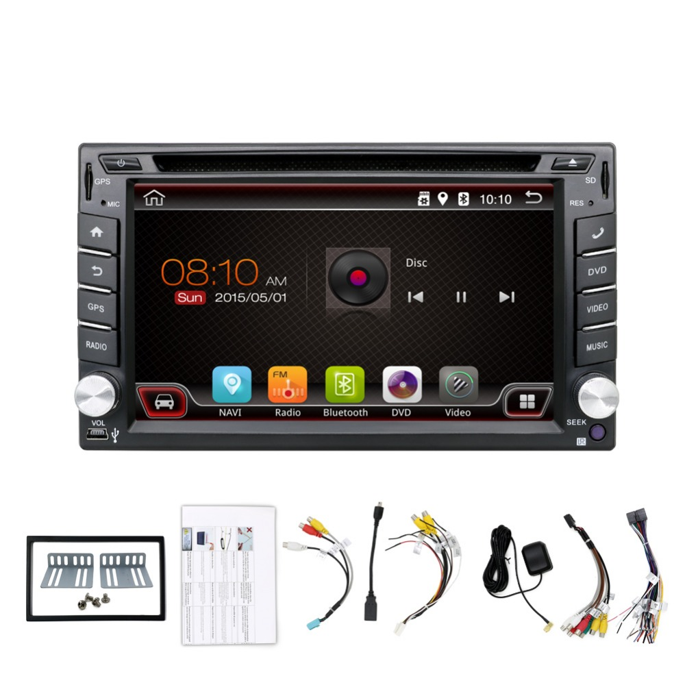 "Android4.4 HD 6.2""inch Screen Double Din Universal Car GPS DVD Stereo Player"