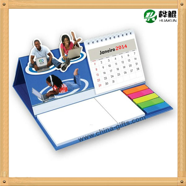 2014 table calendar with notepad