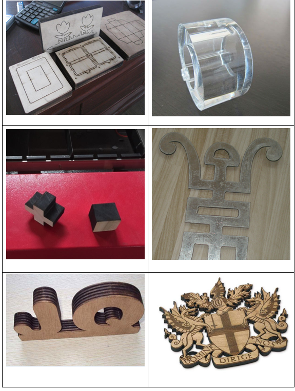 260W mixed laser cutting machine to cut metal and nonmetal materials