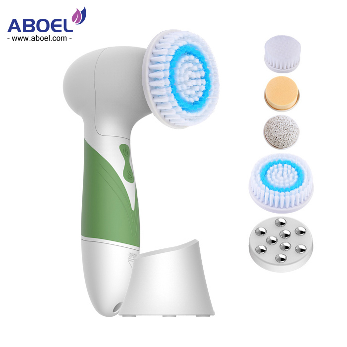 Facial Brush Skin Care Cleansing System & Acne Treatment Microdermabrasion Bath Body Exfoliate Machine Kit, Scrub Anti Aging