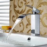 brass waterfall basin single taps tap fafaucet chrome ucet hydro power faucet