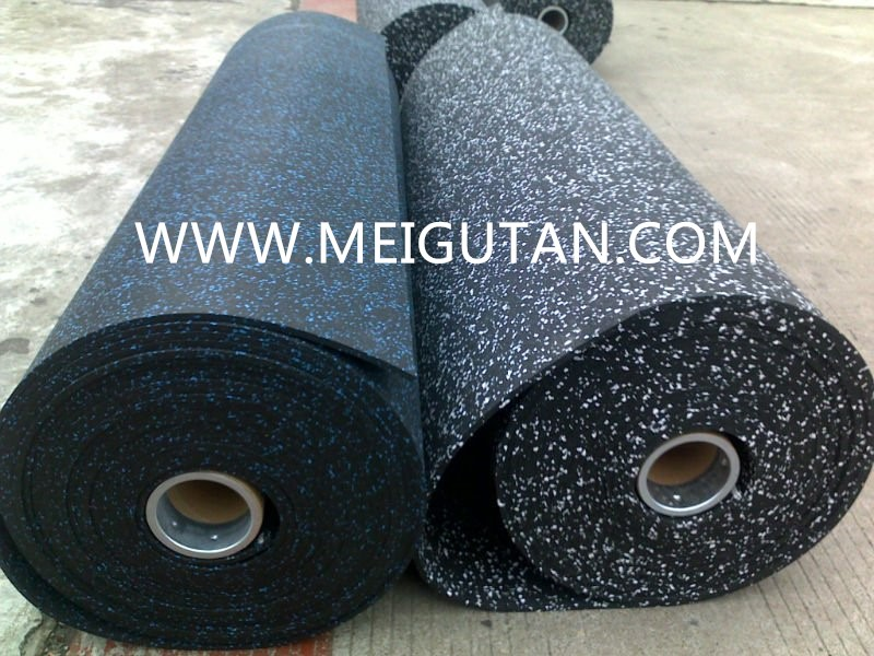 interlocking EPDM speckle gym rubber flooring