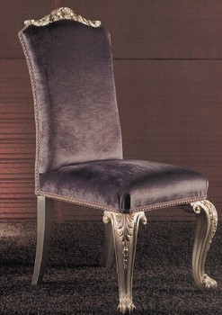 Deluxe solid wood dinning room chair in purple color