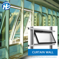 China Hot Sale curtain wall window detail revit curtain wall operable window