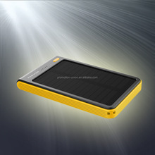 universal mini portable solar power bank 8000mah with LED flash light