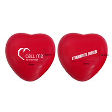 Heart shaped logo printed sponge ball relax ball heart pu squeeze ball