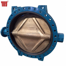 1200mm Manual Seawater Flanged end Butterfly Valve with C95500 Disc
