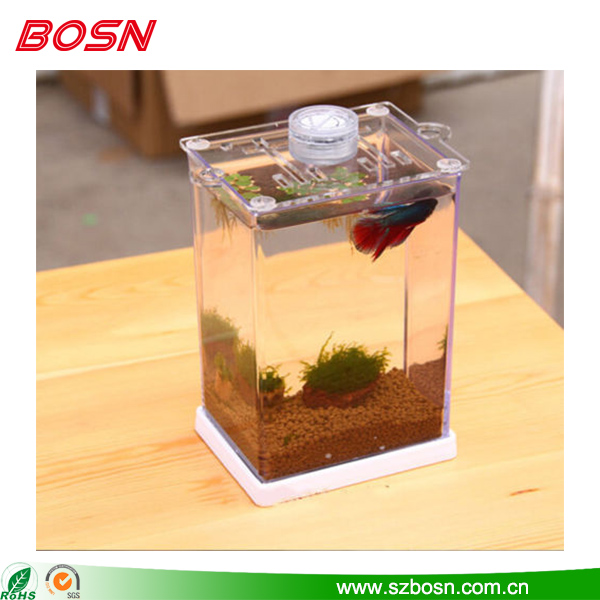 Hot sell popular customized small clear acrylic fish tank aquarium