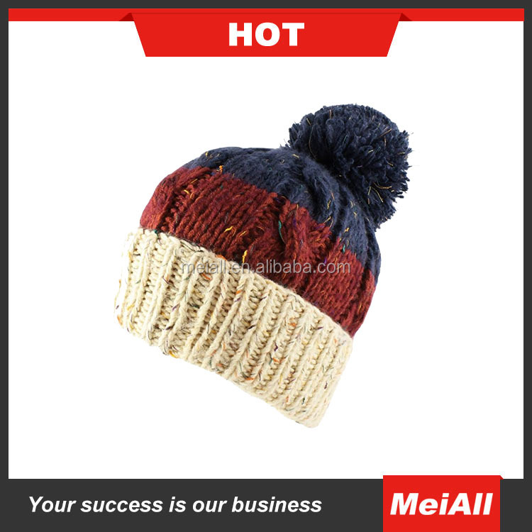 High Quality Warm Wool Caps Knitted Beanies Hat Winter Skullies Cap For Woman and Men