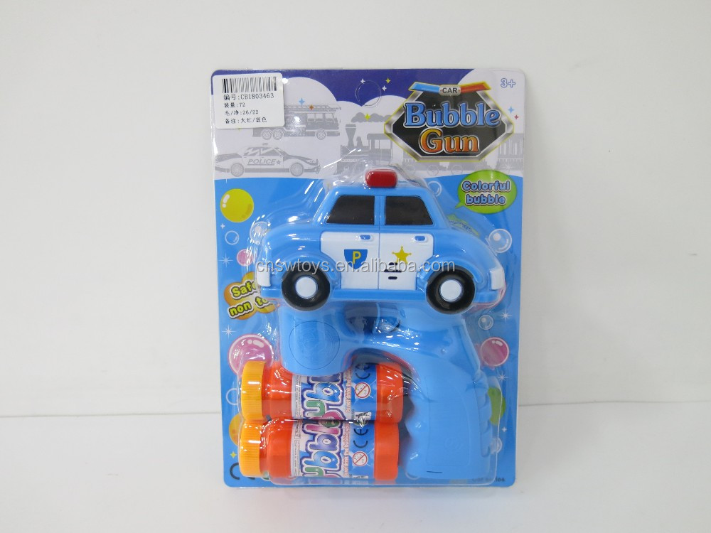 CB1803463 Outdoor play set cartoon car with light and music bubble gun for kids