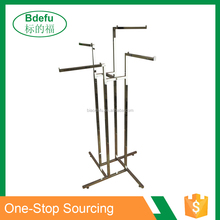 BDF- Beautiful Shop display rack system 4 Ways clothes drying rack hanging stand