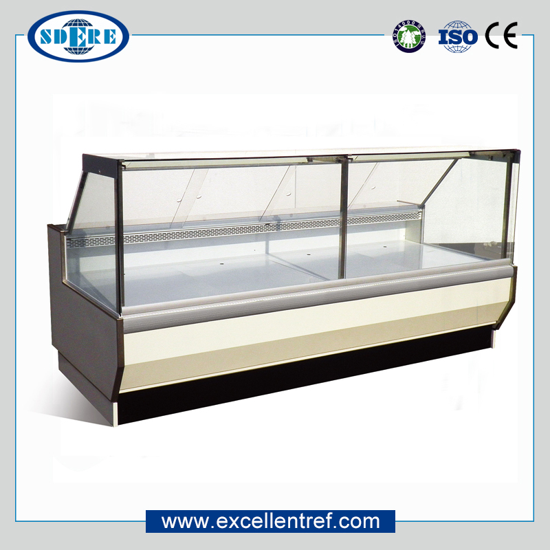 DSF25CCH1 Flat Glass Service Refrigerated Display Counter For Deli