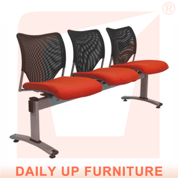 Public 3 Seater Link Chair Salon Waiting Chairs With Padded Seater Reception Room Cushion Chair