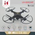 LH-X25GWF live tranmission wifi rc quadcopter toy with double GPS and 720P camera rc follow me drone