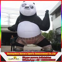 2016 best popular giant inflatable kungfu Panda with factory lower price