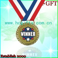 Free artwork design Antique Copper sport winner award medal with ribbon