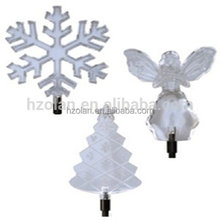 Acrylic Clear christmas decorations gifts Winter Solar Light