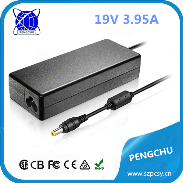 Desktop PC Power Supply 75W 19V 3.95A Laptop AC Adapter For Notebooks