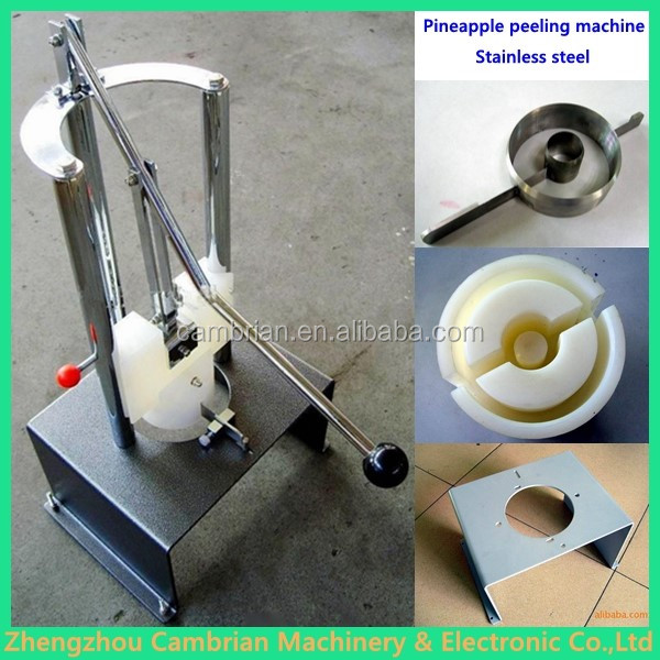 Factory supply small ananas peeling coring machine with lowest price