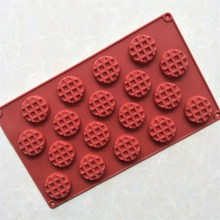 online shopping 18 Cavity Silicone Mini Round Waffle Chocolate Silicone Mold Non stick Cookie Mini Round Waffle Silicone Mold