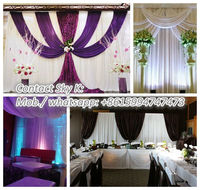 3m~6m retractive pipe and drape kits for Wedding decoration