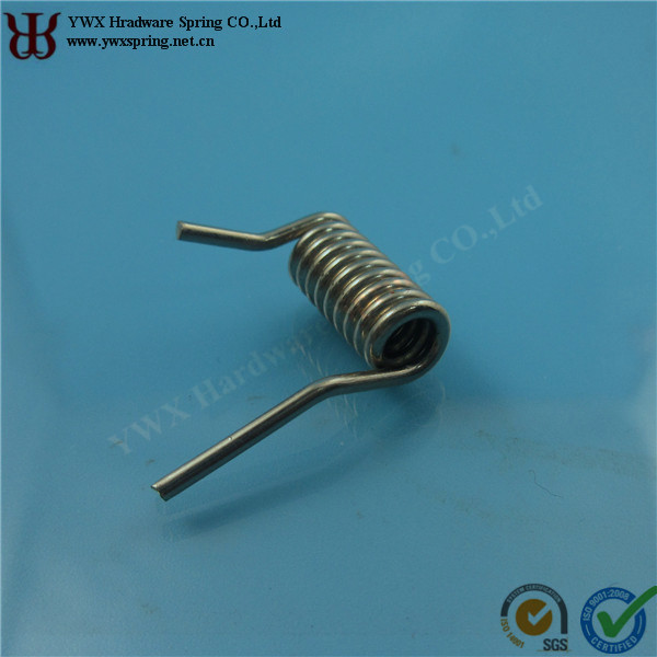 spring steel downlight double torsion spring with nicknel plated for LED downlight