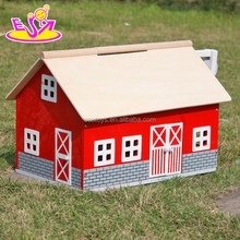 Funny useful girl play set wooden house toy,Safe material Kids wooden toy house,High end children wooden house toy W06A105