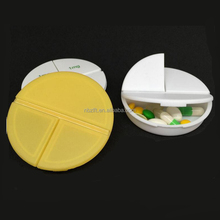 Medical Gifts Logo Printed Round Shape Daily PP Pill Box