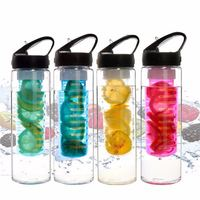 wholesale hot sale fruit infuse tritan water bottle in china